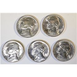 5-BU 1942-P SILVER JEFFERSON WAR NICKELS