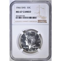 1966 SMS KENNEDY HALF NGC MS-67 CAMEO