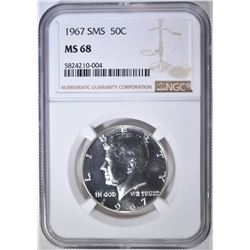 1967 SMS KENNEDY HALF NGC MS-68