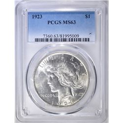 1923 PEACE DOLLAR, PCGS MS-63