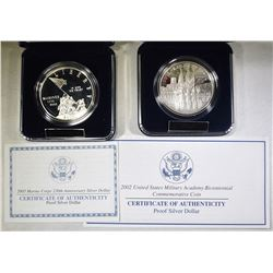 LOT OF 2 COMMEMORATIVE COINS