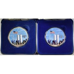 2 NATIONAL COLLECTOR'S MINT 2001 ASE 9/11 COMMEM