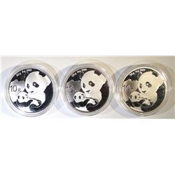 3 2019 10 YUAN SILVER CHINA PANDAS