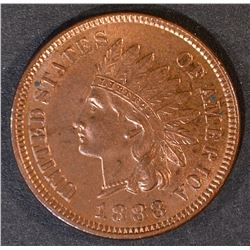 1883 INDIAN CENT  GEM BU RED