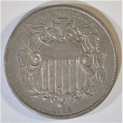 1869 SHIELD NICKEL  CH AU