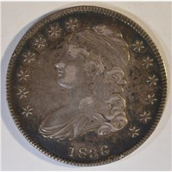 1836 LETTER EDGE BUST HALF DOLLAR  AU