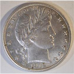 1912 BARBER HALF DOLLAR  CH BU