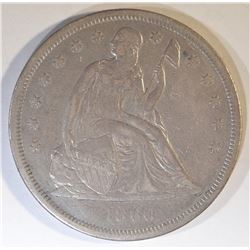 1860-O SEATED DOLLAR  AU