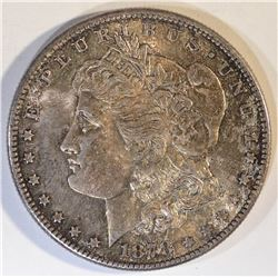 1878-S MORGAN DOLLAR  GEM UNC  COLOR