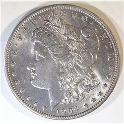 1904 MORGAN DOLLAR  CH BU+