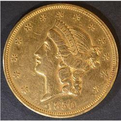 1850 $20 GOLD LIBERTY  AU