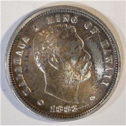 1883 HAWAII DIME  AU/UNC