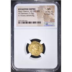 582-602 AD  SEMISSIS  BYZANTINE EMPIRE