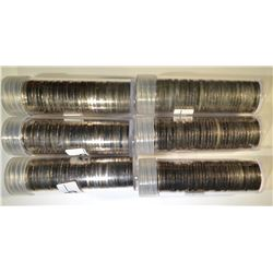 6 BU ROLLS OF JEFFERSON NICKELS, 2-1966, 2-1695