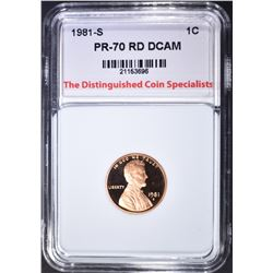 1981-S LINCOLN CENT, TDCS PERFECT GEM PR RD DCAM