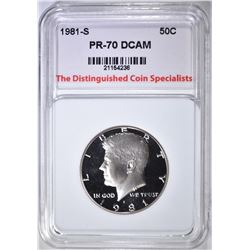 1981-S KENNEDY HALF, TDCS PERFECT GEM PR DCAM
