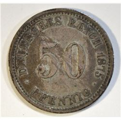 1875 GERMAN 50 PFENNIG