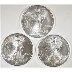 3-BU 2003 AMERICAN SILVER EAGLES