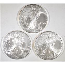 1-2006 & 2-07 BU AMERICAN SILVER EAGLES