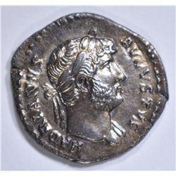 117-138 AD SILVER DENARIUS  EMPEROR HADRIAN ROME