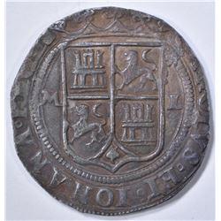 1544-1548 MO  SILVER 2 REALES MEXICO
