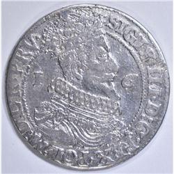1624 SILVER 1/4 THALER POLAND