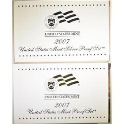 2007 CLAD & SILVER U.S. PROOF SETS ORIG PACKAGING