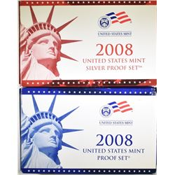 2008 CLAD & SILVER U.S.  PROOF SETS