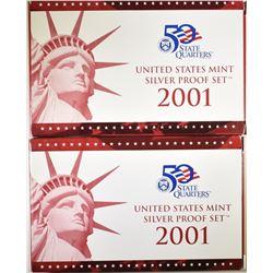 2-2001 U.S. SILVER PROOF SETS