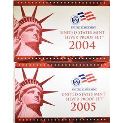 2004 & 2005 U.S. SILVER PROOF SETS