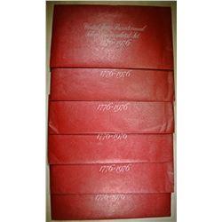 5- 1976 BICENTENNIAL 3-COIN SETS- ORIG PAKCAGING