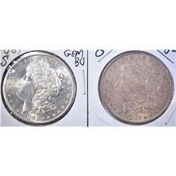 1881-S GEM BU & 83-O BU MORGAN DOLLARS