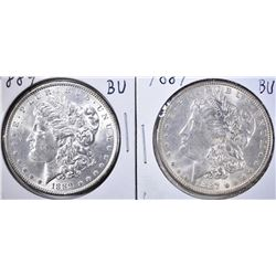 1887 & 1889 BU MORGAN DOLLARS