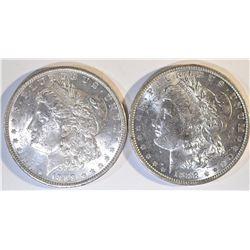2-1988-O MORGAN DOLLARS, CH BU
