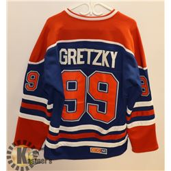 CCM OILERS GRETZKY JERSEY SIZE 50.