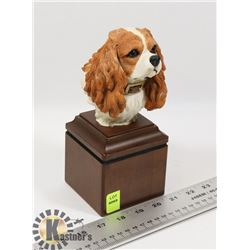 NEW CAVALIER KING CHARLES SPANIEL HEAD BUST STATUE