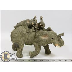 NEW ELEPHANT WITH BABIES STATUE