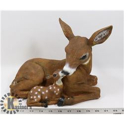 NEW DEER AND FAWN STATUE