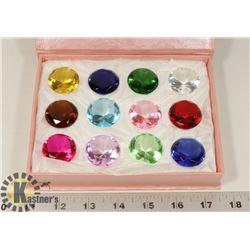 DISPLAY BOX WITH 12 ASSORTED DIAMOND SHAPED
