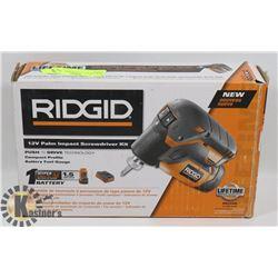 "NEW ""RIDGID"" 12 PALM IMPACT SCREW"
