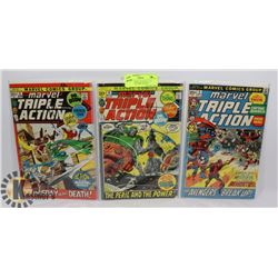 MARVEL TRIPLE ACTION #3, 4 5 COLLECTOR COMIC BOOKS
