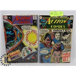 ACTION COMICS #365, 374 VINTAGE COLLECTORS COMICS