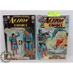 ACTION #391, 392 VINTAGE COLLECTORS COMIC BOOKS