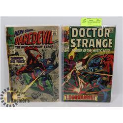 DAREDEVIL #35, DOCTOR STRANGE #172 COMIC BOOKS.