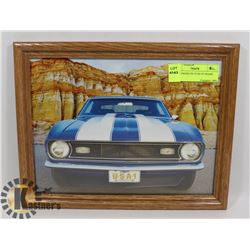 1967 CAMARO PICTURE IN FRAME.
