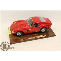 1/18 SCALE DIECAST RED FERRARI 250 GTO 1962