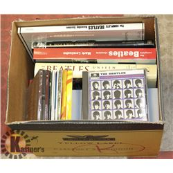BOX OF ASSORTED CDS/BOOKS