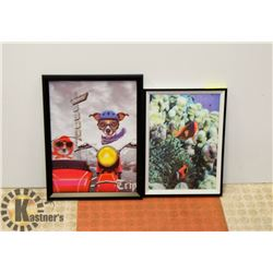 LOT OF 2 NEW 3D ANIMAL PICTURES