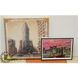 LOT OF 2 NYC ARTWORK PIECES, 1 IS 3D