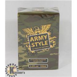 ARMY STYLE 3.3 FL. OZ. CAMO EAU DE TOILETTE FRANCE